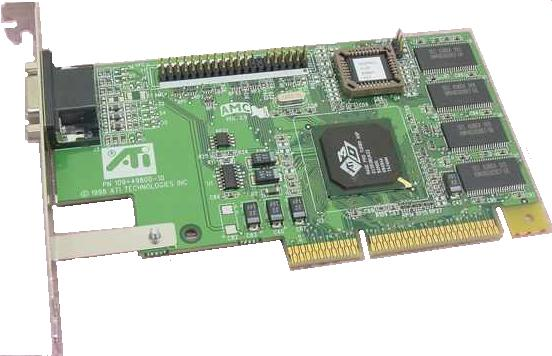 ATI 3D RAGE PRO Turbo 109-49800-10 ATI 8MB AGP VIDEO CARD DB15 1