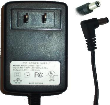 I.T.E AUDF-20090-1601 AC ADAPTER 9VDC 1500mA POWER SUPPLY Altec