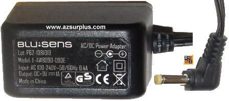 BLU:SENS E-AWB090-090E AC ADAPTER 9VDC 1A USED POWER SUPPLY