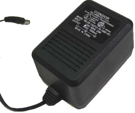 CONDOR D12-10-1000 AC ADAPTER 12VDC 1A -(+)- USED 2.5x5.5mm STRA
