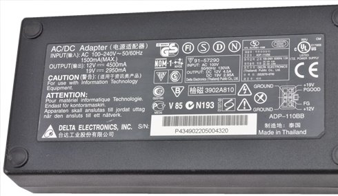 DELTA ADP-110BB AC ADAPTER 12VDC 4.5A 6Pin Molex POWER SUPPLY