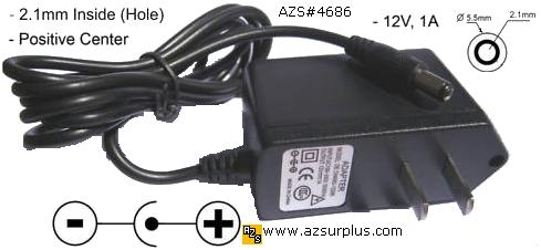 Finecom MU12-2120100-A1 AC ADAPTER 12VDC 1A SA106C-12 POWER SUPP