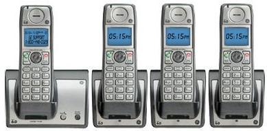 GE TC28213EE4 Wireless HANDSET FOUR CORDLESS Home Phone SYSTEM