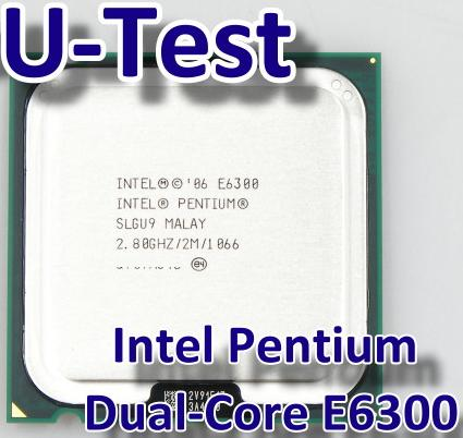 Intel Pentium Dual-Core E6300 2.80GHz 64 bit CPU Used Processor