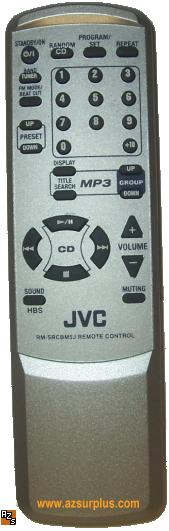 JVC RM-SRCBM5J REMOTE CONTROL FOR CD PLAYER