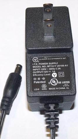 LEI MT12-Y075100-A1 AC ADAPTER 7.5VDC 1A USED -(+)- 2.2x5.5mm