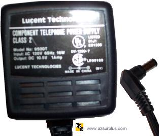 LUCENT TECHNOLOGIES 9500T AC DC ADAPTER 10.5V 1A COMPONENT