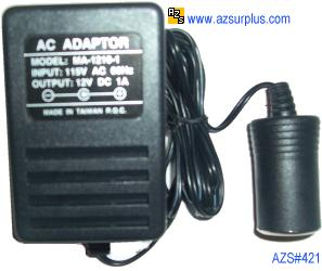 MA-1210-1 AC ADAPTER 12VDC 1A USED CAR CELL PHONE CHARGER