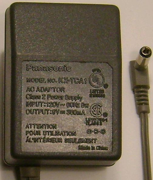 PANASONIC KX-TCA1 AC ADAPTER 9VDC 350mA +(-) 2x5.5mm USED CORDLE