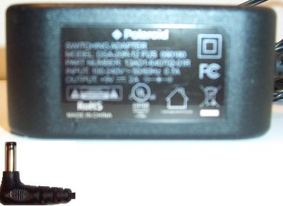 ROHS POLAROID DSA-20R-12 FUS 090180 AC ADAPTER +9V 2A DVD PLAYER