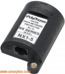 PolyPhaser NX2-60 LP-POE RJ45 New for PoE Indoor P/N. 46-00126-0