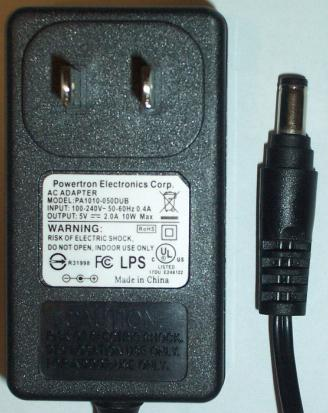 POWERTRON PA1010-050DUB AC DC ADAPTER 5V 2A POWER SUPPLY