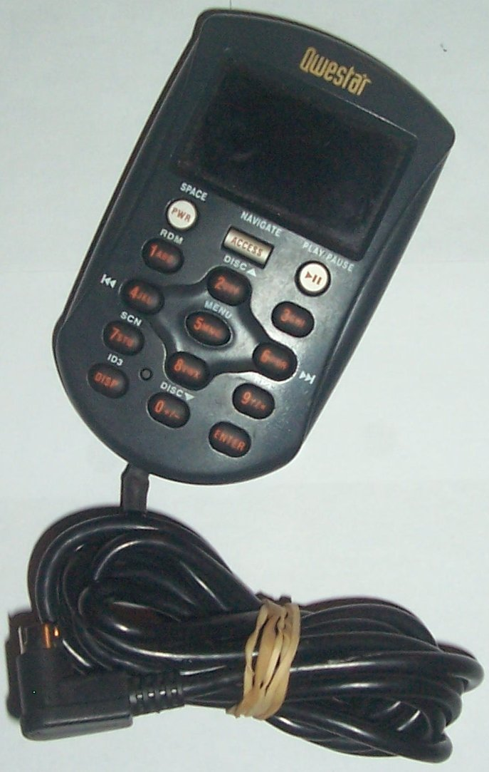 QWESTAR WIRE REMOTE FOR CAR CD CHANGER - Click Image to Close