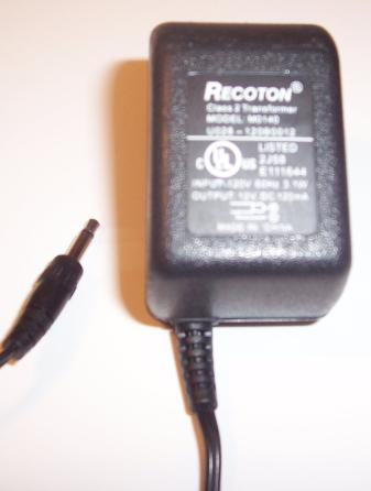 RECOTON M0140 AC ADAPTER 12VDC 120mA POWER SUPPLY CLASS 2 TRANSF