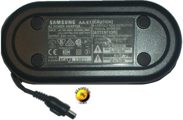 SAMSUNG AA-E7 AC DC ADAPTER 8.4V 1.5A POWER SUPPLY FOR CAMCORDER