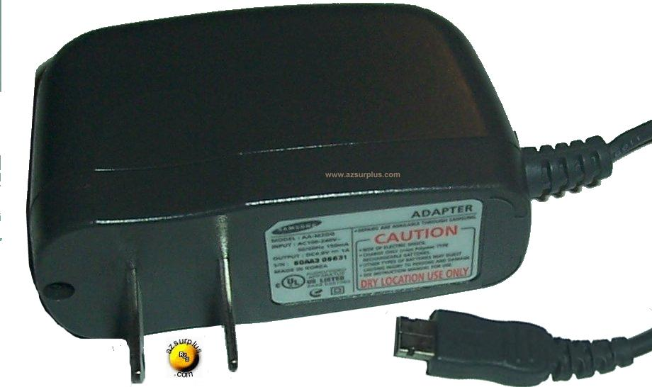 SAMSUNG AA-M2DG 6DAA3 00631 AC DC ADAPTER 4.8V 1A Power Supply