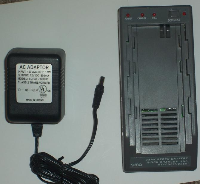 SIMA SPM-3 CAMCORDER BATTERY CHARGER WITH ADAPTER