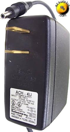 SOLCOMPOY ACH-4U 12VDC 760mA AC ADAPTER ITE POWER SUPPLY