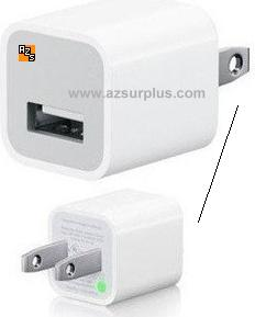USB A Charger AC adapter 5V 1A Wallmount US Plug Home power supp
