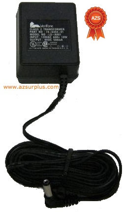VeriFone LS-A001 AC ADAPTER 9VDC 0.5A LEI POWER SUPPLY Class 2 T