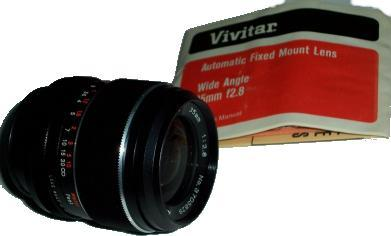 VIVITAR WIDE ANGLE 35MM F2.8 AUTOMATIC FIXED MOUNT CAMERA LENS