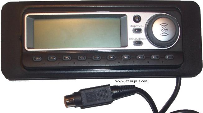 XM IN DASH SATELLITE RADIO TUNER ( Car Audio ) Wire Remote