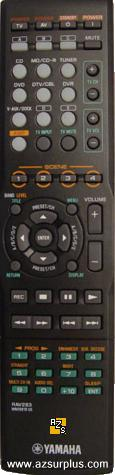 Yamaha RAV283 REMOTE Control WN05810 US for YHT590BL